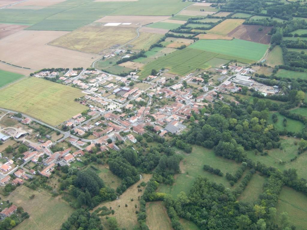 vue aérienne sur Souil