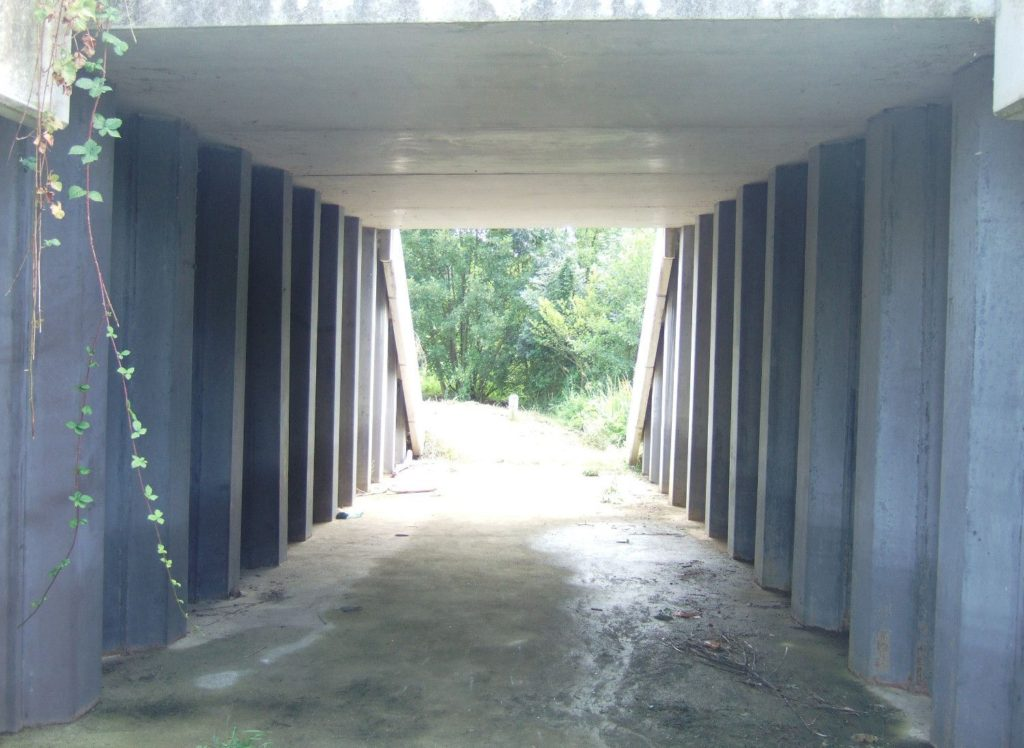 passage piéton sous le pont de Sevreau